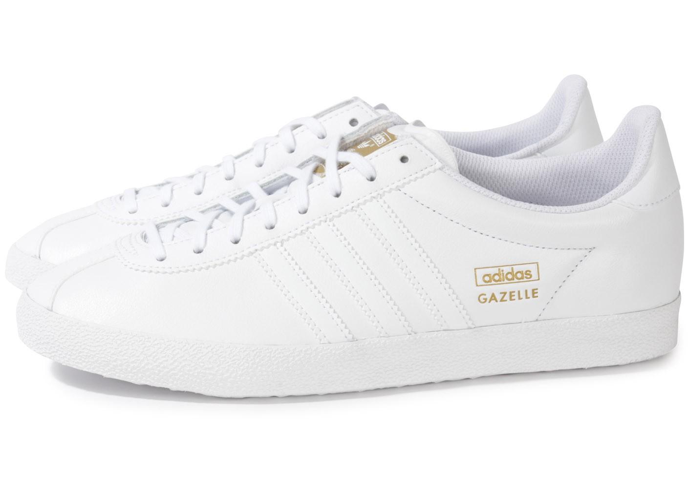 adidas gazelle blanche et rose