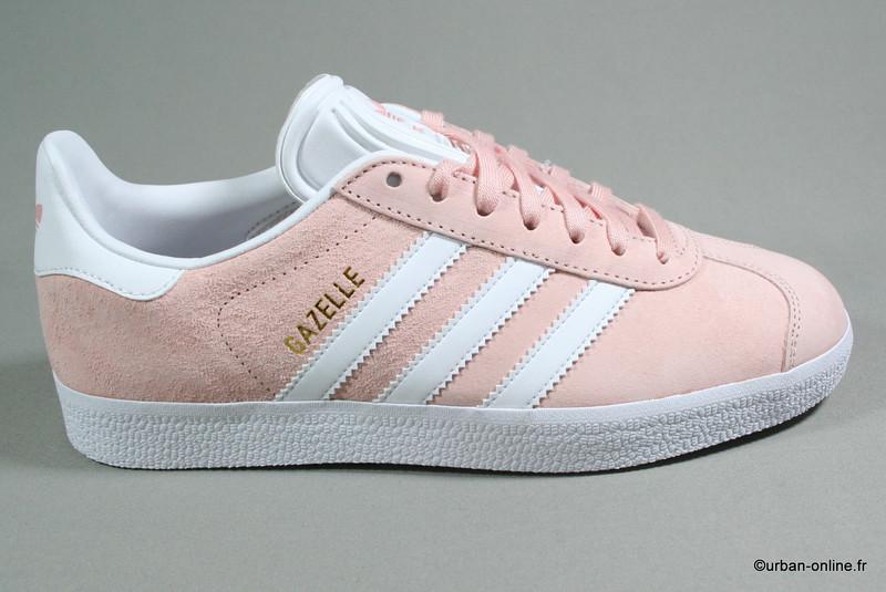 adidas gazelle rose et gris