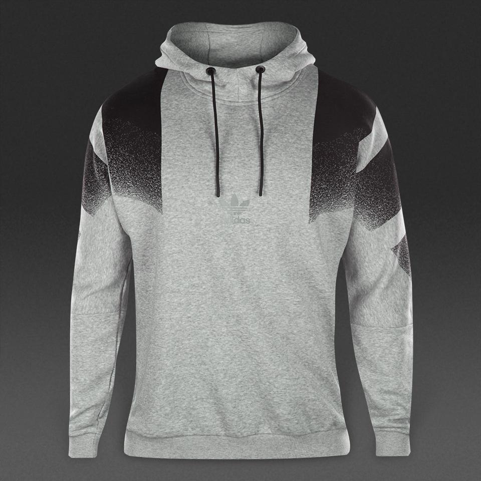 adidas originals training hood medium grey heather