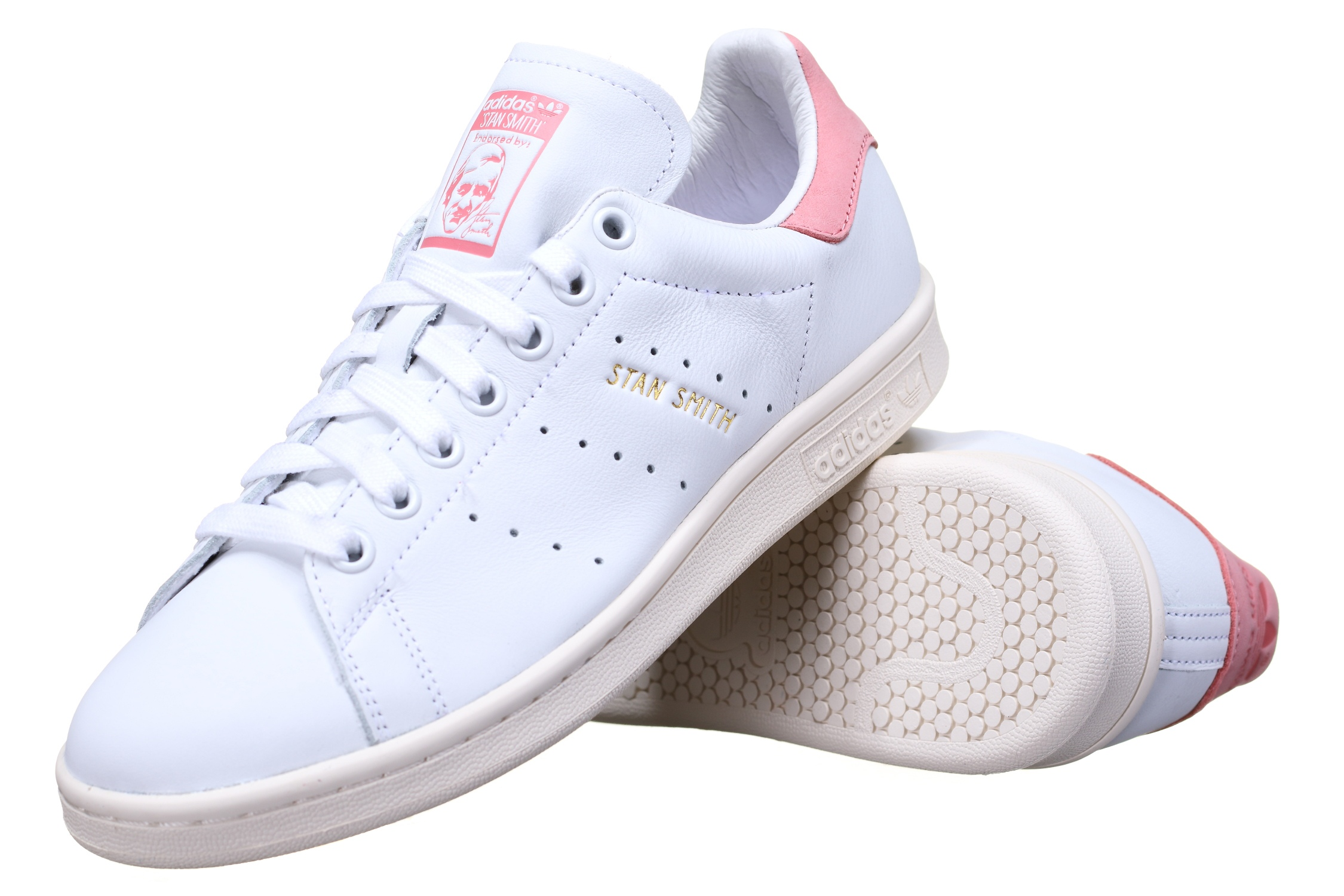 stan smith grise et rose