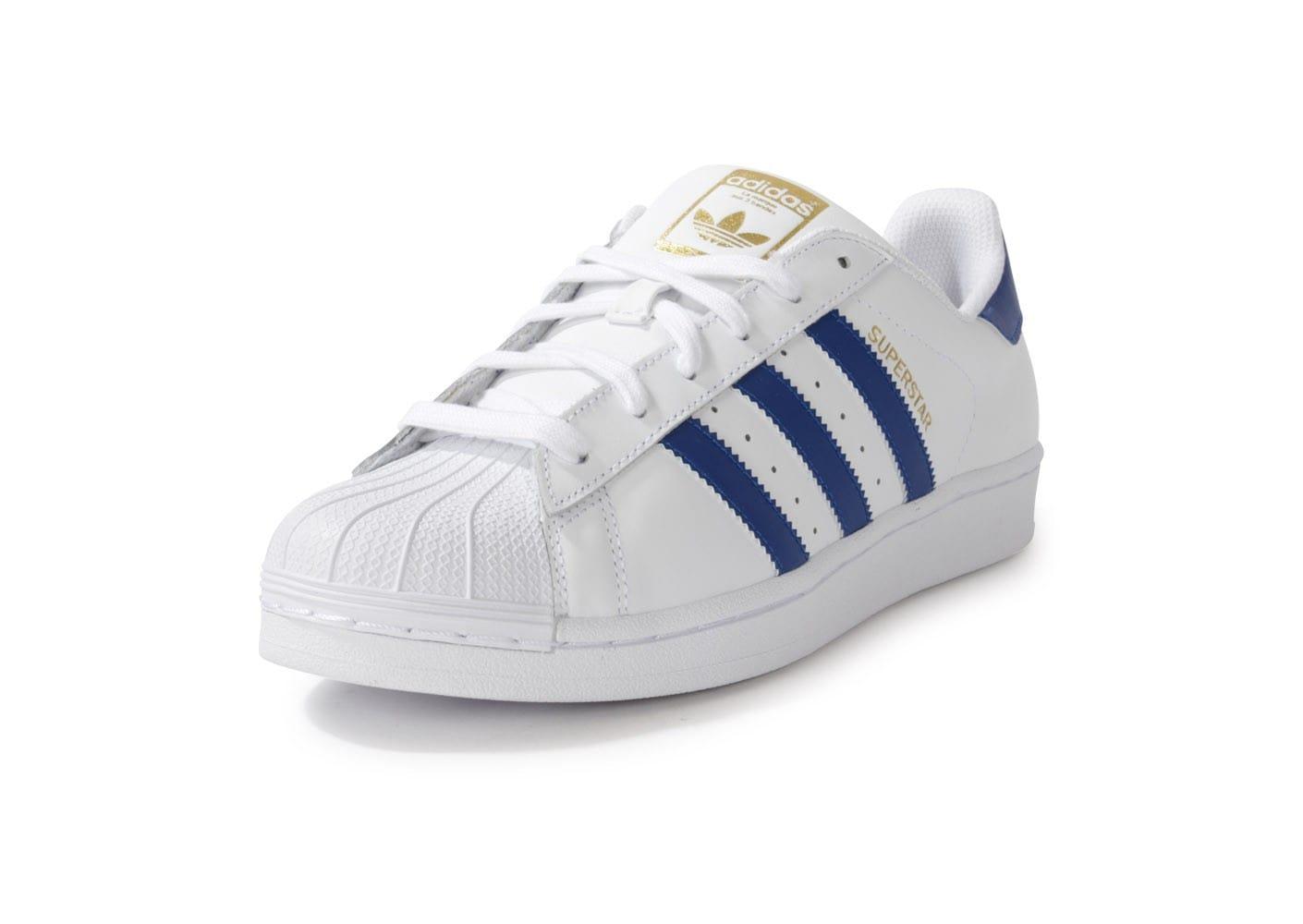 adidas superstar bleu blanc