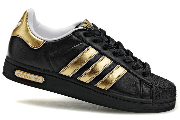 adidas femme noir et or
