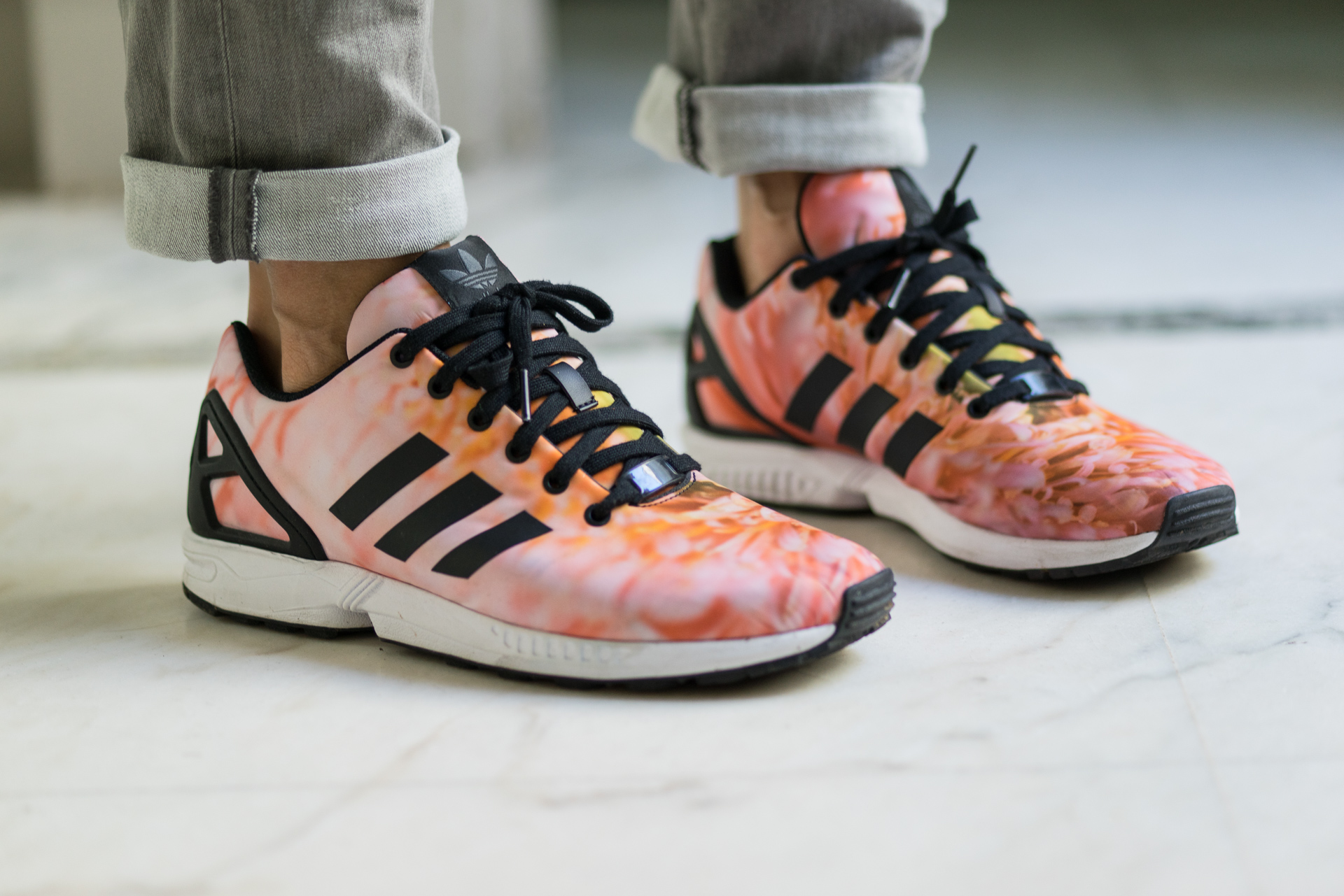 hot sale online cb74c 8d324 adidas zx flux femme orange