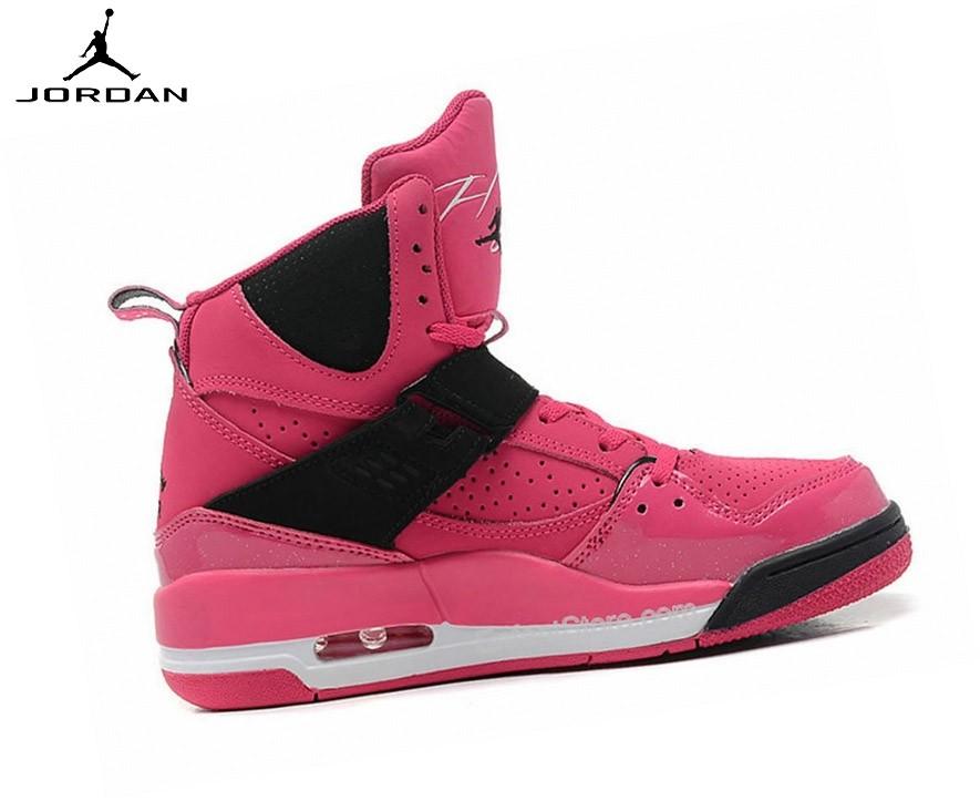 air jordan flight femme noir et rose