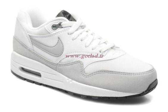 new concept 48369 b9e66 air max 1 essential femme grise blanc