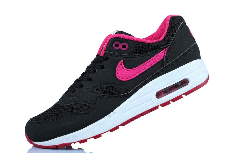 save off 7ef19 2b0ff air max 1 femme noir et rose