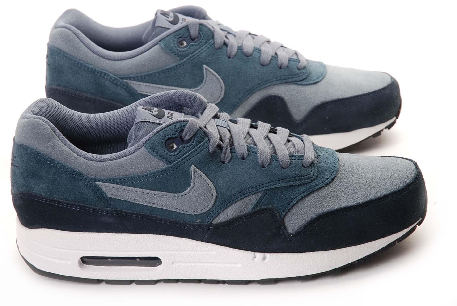 air max 1 bleu gris blanc
