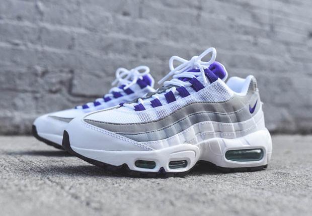 air max 95 violette et blanche