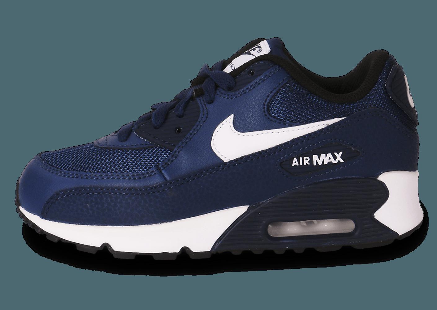 air max bleu marine et blanc