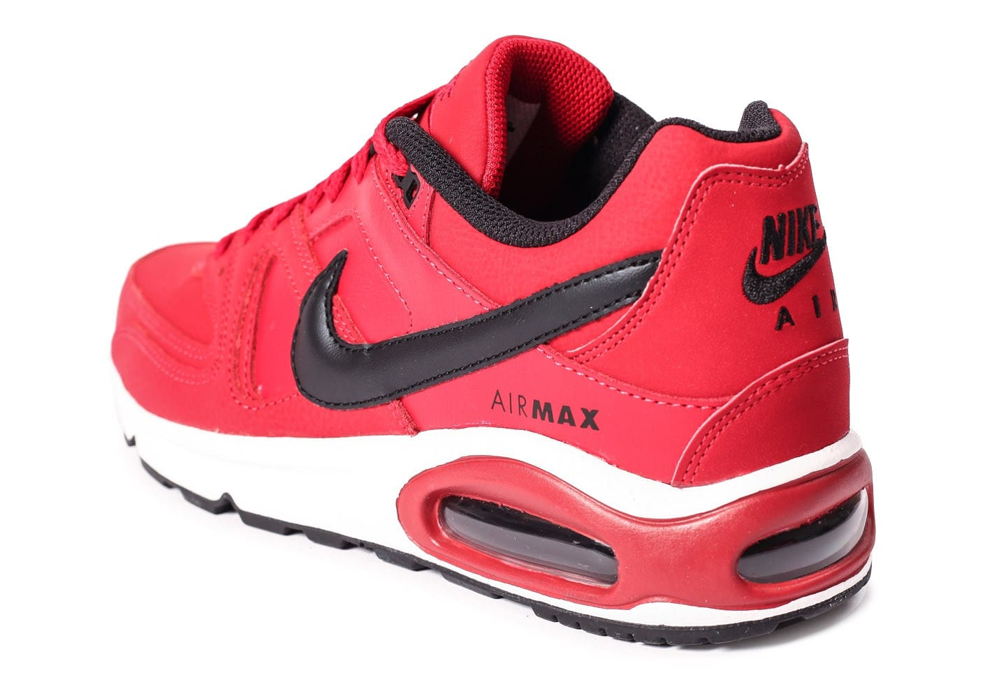 new concept 94f81 f0927 air max command leather rouge