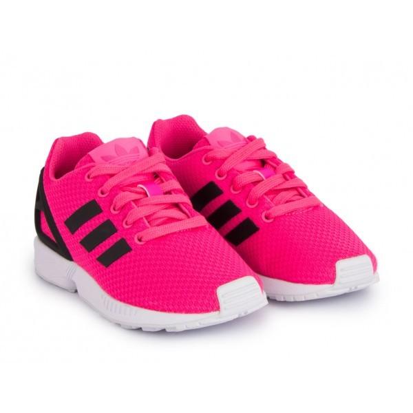 basket adidas zx flux rose