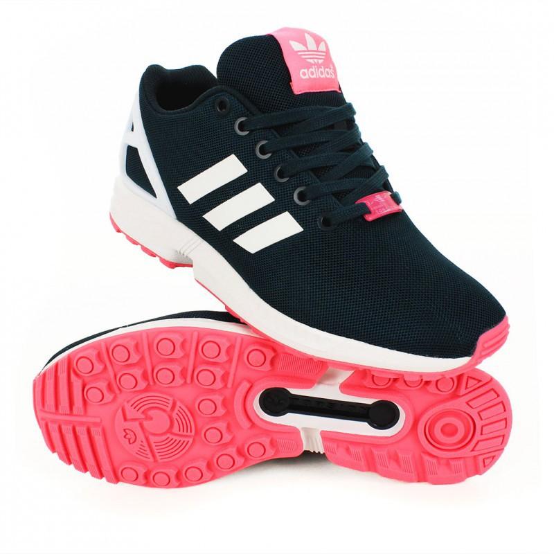 basket adidas zx flux rose fluo