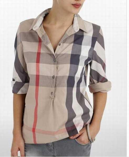 0eb8508b5bda Prix de gros chemise burberry pas cher femme France vente en ligne